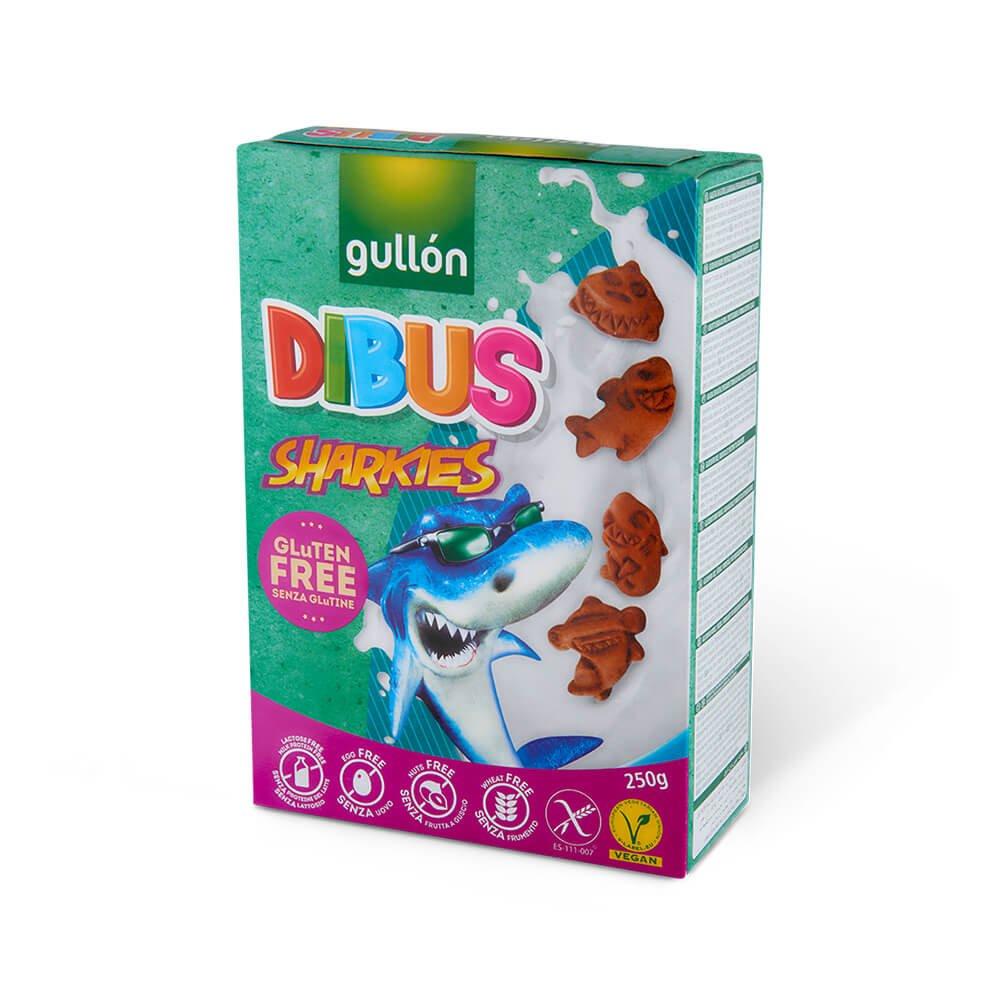 Dibus Sharkies biscuits gullon gluten free lactose free egg free vegan