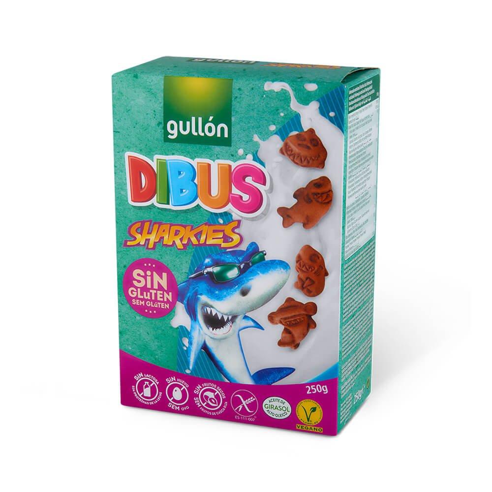 Dibus Sharkies galletas gullon sin gluten sin lactosa sin frutos secos galletas veganas