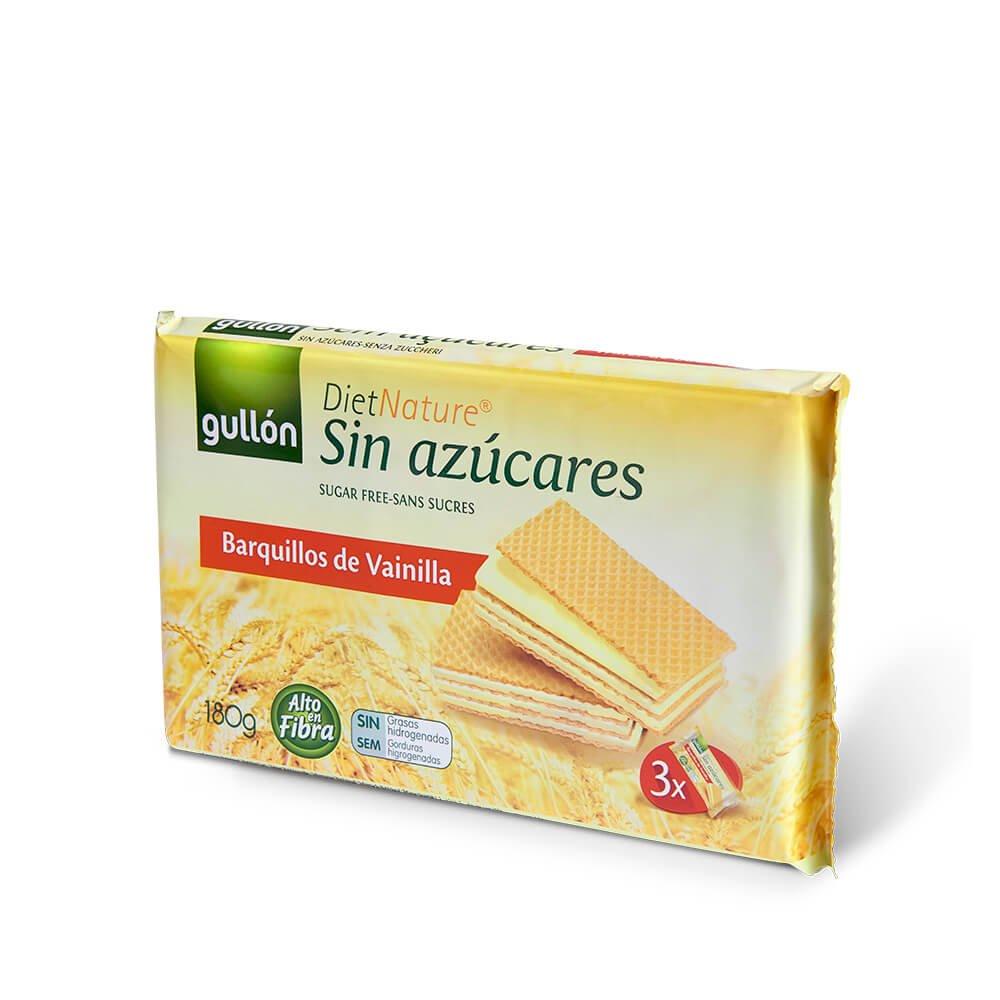 Diet Nature barquillos de vainilla sin azúcares Gullón paquete