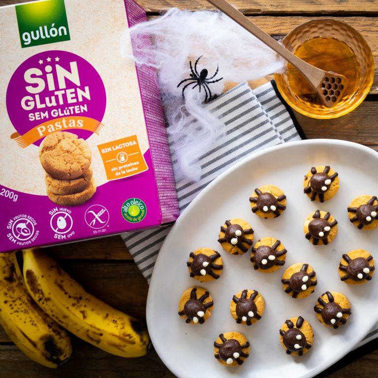 Gullón receta halloween galletas sin gluten arañas