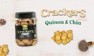 Crackers de quinoa y chía