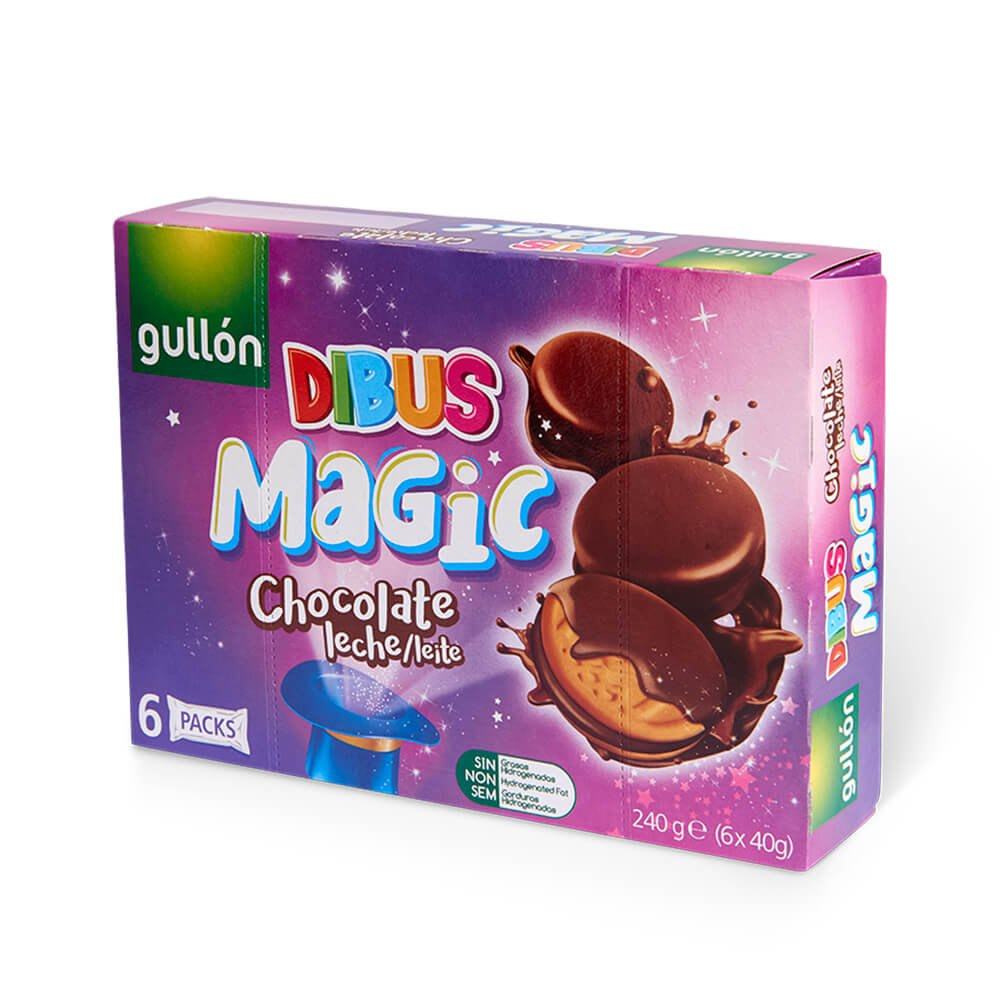 Dibus Magic Chocolate leche leite Gullón