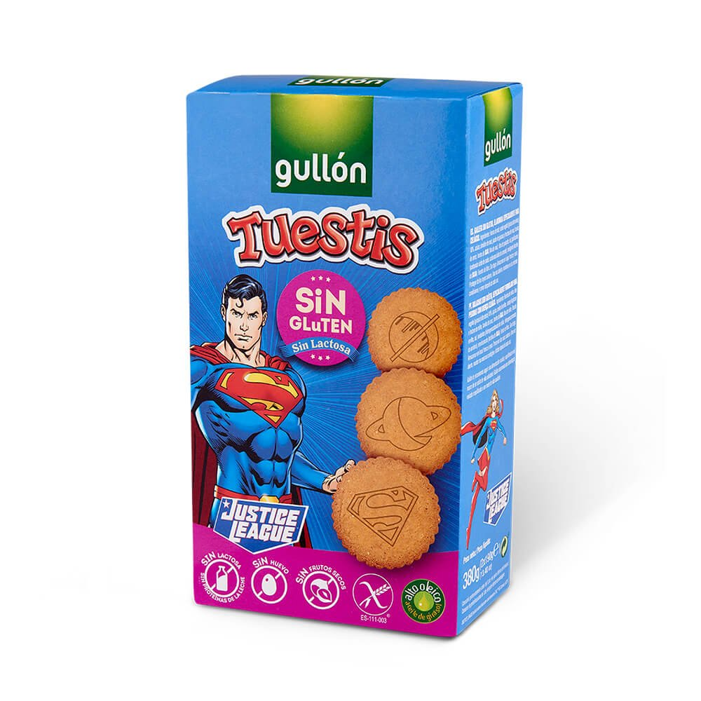 tuestis sin gluten justice league gullon