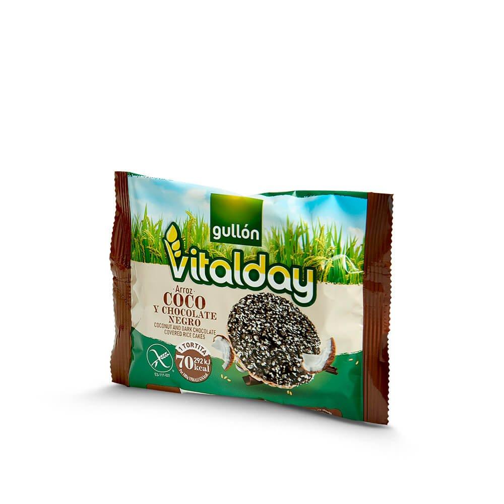 Tortitas vitalday de arroz coco y chocolate negro
