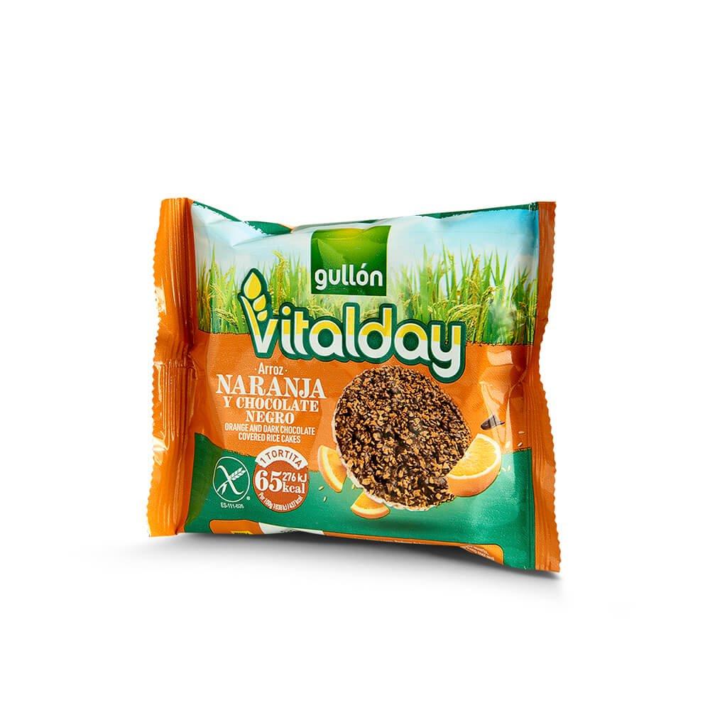 -Tortitas naranja Vitalday  pack individual